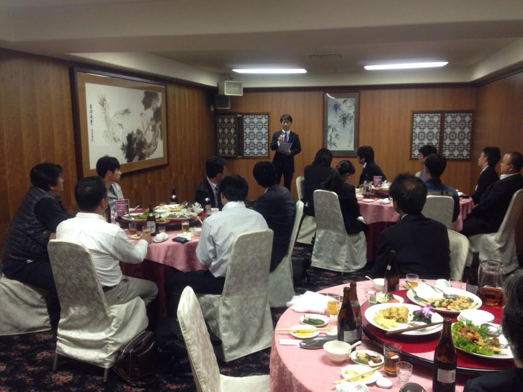 10月例会は食事会でした。